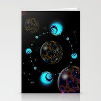 starry night Stationery Cards featuring Starry Starry Night by inkedsandra