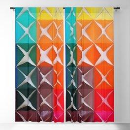 Cube Rainbow Blackout Curtain