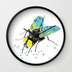 Geosafari | Fly (White) Wall Clock