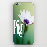 pig iPhone & iPod Skins featuring Pig by Wanker & Wanker