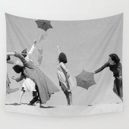 Umbrella ballet Wall Tapestry