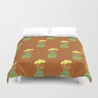 body Duvet Covers featuring Body by Triple Six Illustration