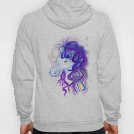 Fantasy unicorn portrait Hoody