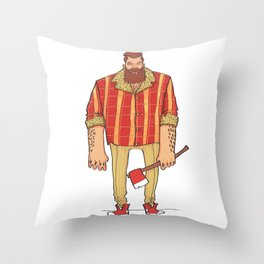 The Woodchop Throw Pillow