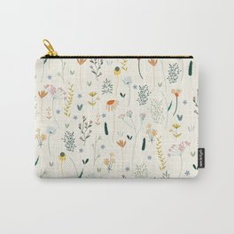 Vintage Inspired Wildflower Print Carry-All Pouch