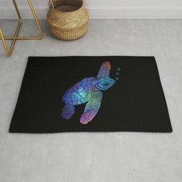 Colorful Sea Turtle II Rug