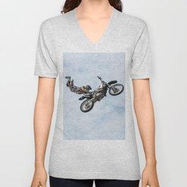 Motocross High Flying Jump Unisex V-Neck