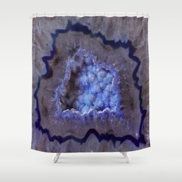 Quartz Inside Geode rustic decor Shower Curtain
