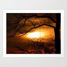 Spooky Sunset Art Print