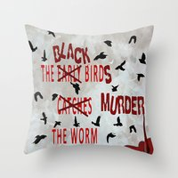 dramatical murder Throw Pillows featuring MURDER  -  021 by Lazy Bones Studios