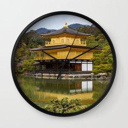 Golden Pavilion Wall Clock