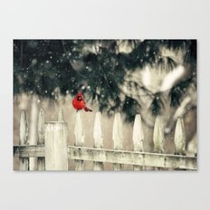 Snowy Day Cardinal Canvas Print