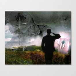 None So Beautiful As The Brave Canvas Print
