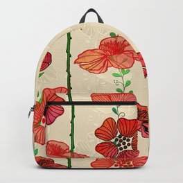 Hanging Poppy Garland Backpack
