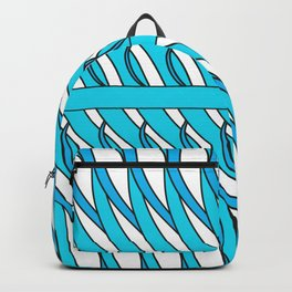 transparent blue color curves Backpack