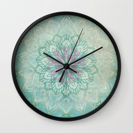 Mermaid Mandala Wall Clock