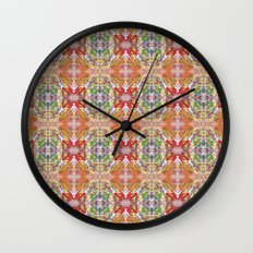 Sunset Butterfly Wall Clock