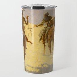 "Frederic Remington Western Art ""The Parley"" Travel Mug"