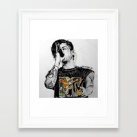 zayn malik Framed Art Prints featuring Zayn Malik by Adele_F