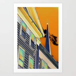 Eagle Street buildings Art Print