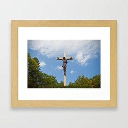 Cross in the Woods Framed Art Print