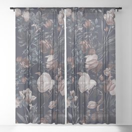 Night Forest XXV Sheer Curtain