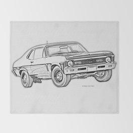 1968 Nova Throw Blanket