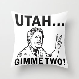 Gimme Two Throw Pillow