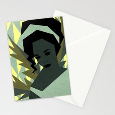 The shy girl Stationery Cards