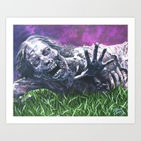 Art Print featuring Bicycle Zombie, The Walking Dead by Shawn Conn