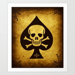 Death Card - Ace Of Spades Art Print