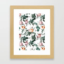 Floral and Winged Darter Framed Art Print
