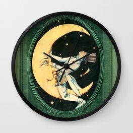 Moon baby Wall Clock