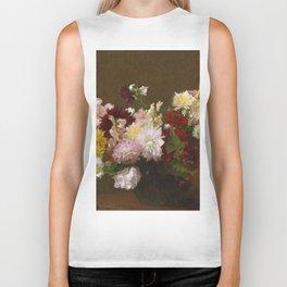 Henri Fantin Latour - Flowers Biker Tank