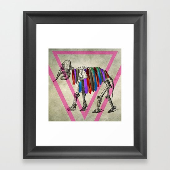 The elephant who wanted to fly Framed Art Print
