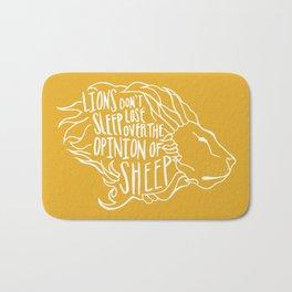 Lions don't lose sleep Bath Mat