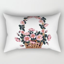 Beautiful Flower Basket Rectangular Pillow