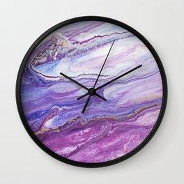 Fluid Expressions - Purple Tide Wall Clock