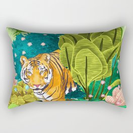 Jungle Tiger Rectangular Pillow