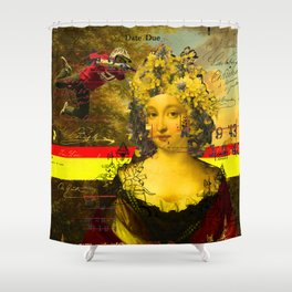 IT'S ALL ABOUT THE YELLOW FLOWER HEADDRESS Shower Curtain