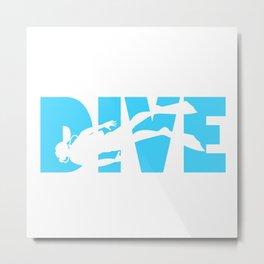 Scuba Diving Metal Print
