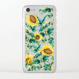 Sunflower Valley #society6 #decor #buyart #83oranges Clear iPhone Case