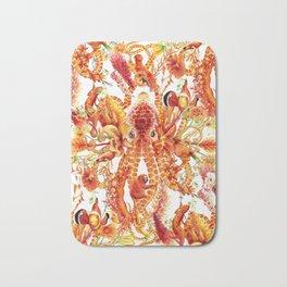 Tangerine Pattern Bath Mat