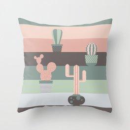 cacti colors Throw Pillow