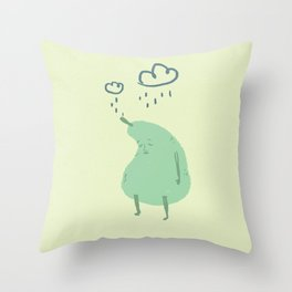 tired pear Throw Pillow