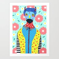 kpop Art Prints featuring Make Me Colourful by Saif Chowdhury