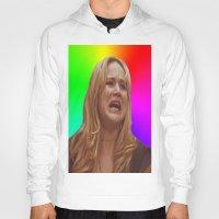 jennifer lawrence Hoodies featuring Jennifer Lawrence Rainbow Derp by dashingfoxx