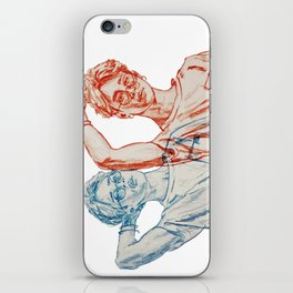 Jimin red and blue iPhone Skin