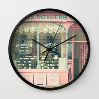 cafe Wall Clocks featuring Sweet Cafe by Cassia Beck