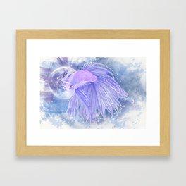 Last 'Betta' Unicorn Framed Art Print